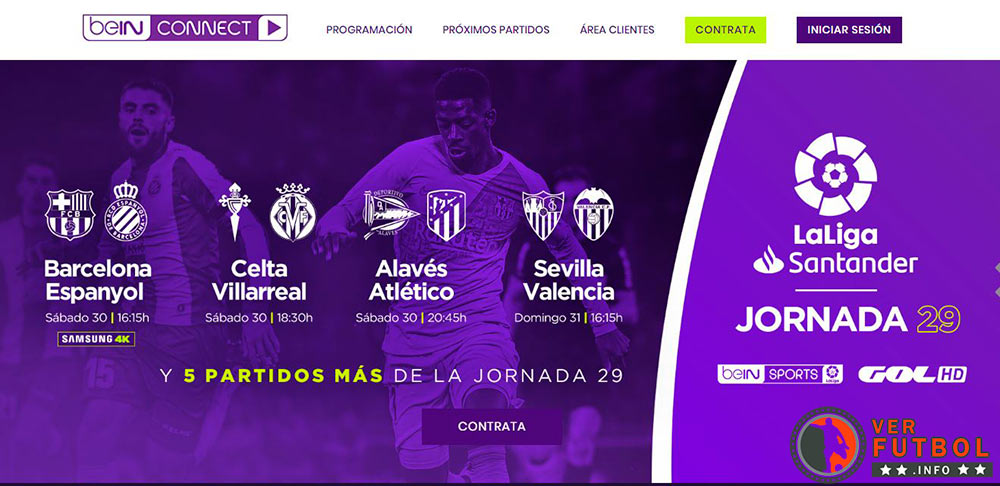 ver fútbol beingconnect, ver partidos beingconnect