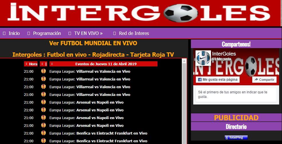 partidos intergoles, calendario intergoles, futbol intergoles