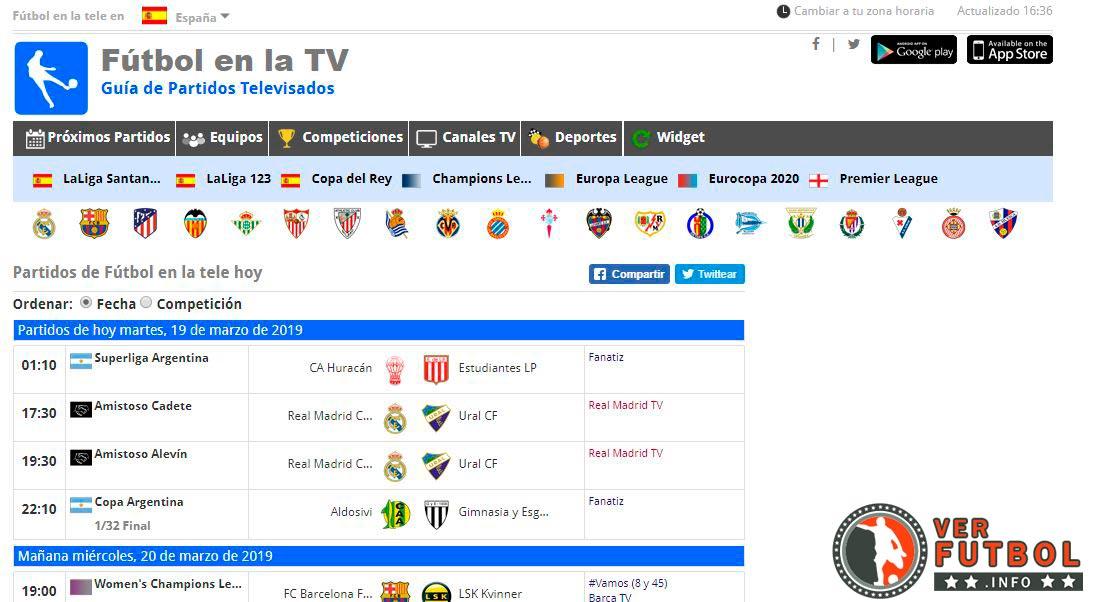 futbol en la tv, partidos de futbol en la tv