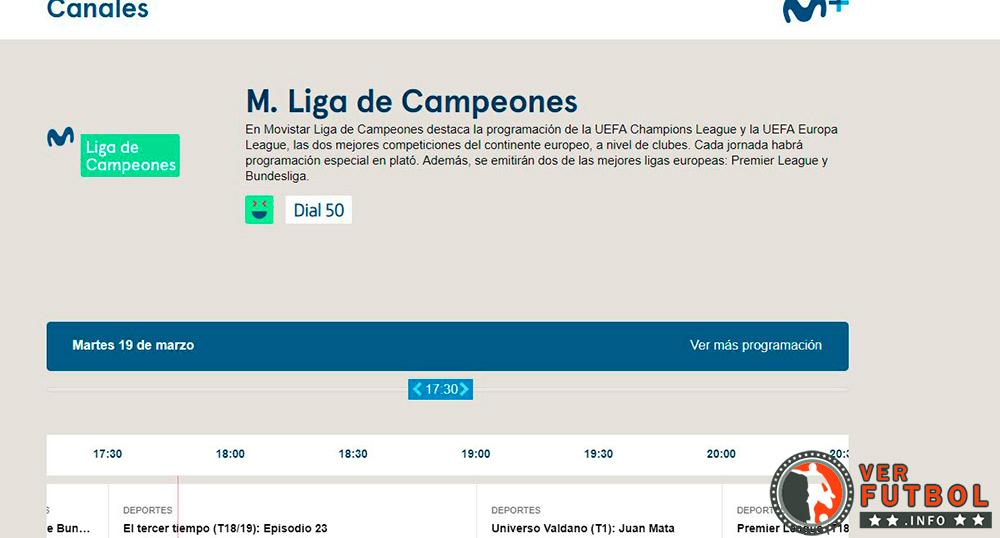 ver fútbol Movistar Liga de Campeones, ver partidos movistar liga de campeones