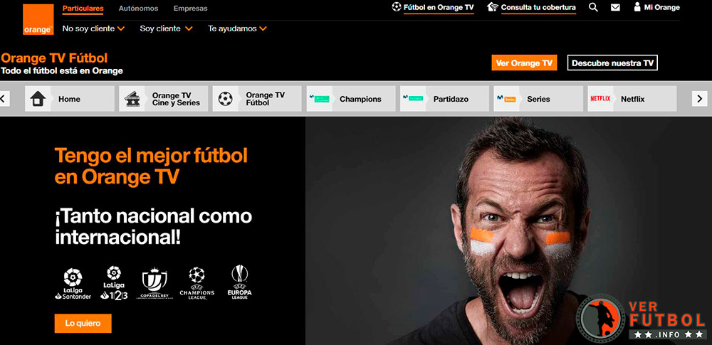 ver fútbol Orange TV Fútbol, ver partidos orange tv futbol